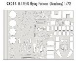 EDCX014 1/72 Boeing B-17F/G Flying Fortress mask (Academy)